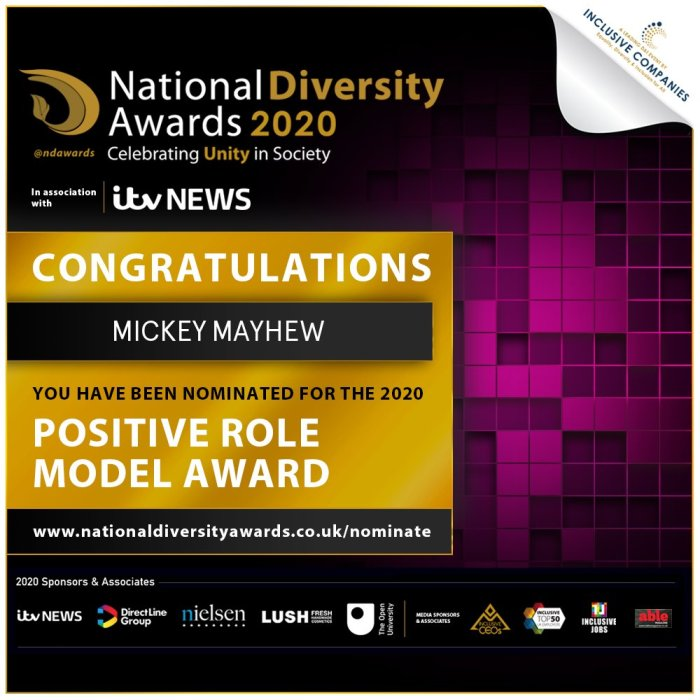 My National Diversity 2020 awards nomination